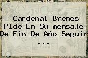 Cardenal Brenes Pide En Su <b>mensaje De Fin De Año</b> Seguir ...