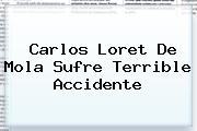 Carlos <b>Loret De Mola</b> Sufre Terrible Accidente