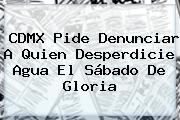 CDMX Pide Denunciar A Quien Desperdicie Agua El <b>Sábado De Gloria</b>