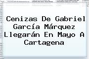 Cenizas De <b>Gabriel García Márquez</b> Llegarán En Mayo A Cartagena