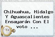 Chihuahua, Hidalgo Y Aguascalientes Ensayarán Con El <b>voto</b> <b>...</b>