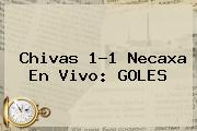 <b>Chivas</b> 1-1 <b>Necaxa</b> En Vivo: GOLES