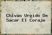 <b>Chivas</b> Urgido De Sacar El Coraje