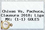 <b>Chivas Vs</b>. <b>Pachuca</b>, Clausura <b>2018</b>: Liga MX: (1-1) GOLES