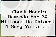 <b>Chuck Norris</b> Demanda Por 30 Millones De Dólares A Sony Ya La ...