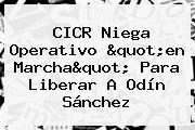 "CICR Niega Operativo ""en Marcha"" Para Liberar A Odín Sánchez"