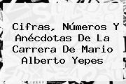 Cifras, Números Y Anécdotas De La Carrera De <b>Mario Alberto Yepes</b>
