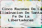 Cinco Razones De La Eliminacion De <b>Santa Fe</b> De La Libertadores