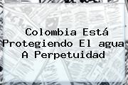 Colombia Está Protegiendo El <b>agua</b> A Perpetuidad