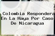 <b>Colombia</b> Respondera En La Haya Por Caso De Nicaragua