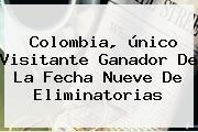 Colombia, único Visitante Ganador De La Fecha Nueve De <b>Eliminatorias</b>