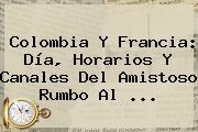 <b>Colombia</b> Y <b>Francia</b>: Día, Horarios Y Canales Del Amistoso Rumbo Al ...