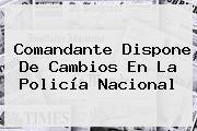 Comandante Dispone De Cambios En La <b>Policía Nacional</b>