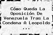 Cómo Queda La Oposición De Venezuela Tras La Condena A <b>Leopoldo</b> <b>...</b>