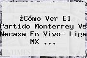 ¿Cómo Ver El Partido <b>Monterrey Vs Necaxa</b> En Vivo? Liga MX ...