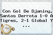 Con Gol De Djaniny, <b>Santos</b> Derrota 1-0 A <b>Tigres</b>, 2-1 Global Y <b>...</b>