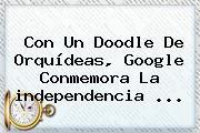 Con Un Doodle De Orquídeas, Google Conmemora La <b>independencia</b> <b>...</b>