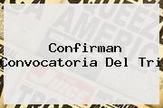 <i>Confirman Convocatoria Del Tri</i>