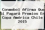 Conmebol Afirma Que Sí Pagará Premios En <b>Copa América</b> Chile 2015