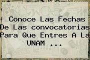 Conoce Las Fechas De Las <b>convocatorias</b> Para Que Entres A La <b>UNAM</b> ...