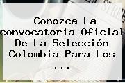 Conozca La Convocatoria Oficial De La <b>Selección Colombia</b> Para Los ...