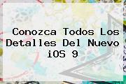 Conozca Todos Los Detalles Del Nuevo <b>iOS 9</b>