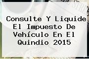 Consulte Y Liquide El Impuesto De Vehículo En El Quindio 2015
