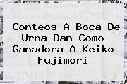 Conteos A Boca De Urna Dan Como Ganadora A <b>Keiko Fujimori</b>