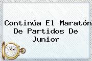 Continúa El Maratón De Partidos De <b>Junior</b>