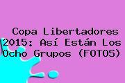 <b>Copa Libertadores 2015</b>: Así Están Los Ocho Grupos (FOTOS)