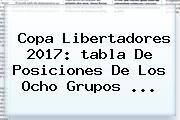 Copa Libertadores 2017: <b>tabla De Posiciones</b> De Los Ocho Grupos ...