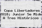 <b>Copa Libertadores 2018</b>: Junior Se Mide A Tres Históricos