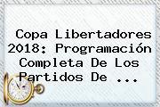 <b>Copa Libertadores 2018</b>: Programación Completa De Los Partidos De ...
