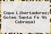 Copa Libertadores: Goles <b>Santa Fe</b> Vs Cobresal