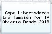 <b>Copa Libertadores</b> Irá También Por TV Abierta Desde 2019