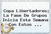 <b>Copa Libertadores</b>: La Fase De Grupos Inicia Esta Semana Con Estos ...