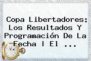 <b>Copa Libertadores</b>: Los Resultados Y Programación De La Fecha | El <b>...</b>