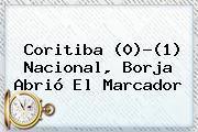 Coritiba (0)-(1) <b>Nacional</b>, Borja Abrió El Marcador