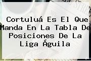 Cortuluá Es El Que Manda En La Tabla De Posiciones De La <b>Liga Águila</b>