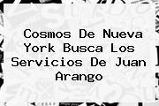Cosmos De Nueva York Busca Los Servicios De <b>Juan Arango</b>