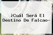 ¿Cuál Será El Destino De <b>Falcao</b>?