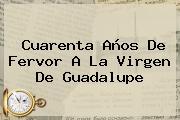 Cuarenta Años De Fervor A La <b>Virgen De Guadalupe</b>