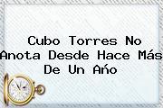 <b>Cubo Torres</b> No Anota Desde Hace Más De Un Año