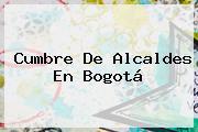 Cumbre De Alcaldes En Bogotá