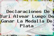 Declaraciones De <b>Yuri Alvear</b> Luego De Ganar La Medalla De Plata
