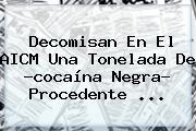 Decomisan En El AICM Una Tonelada De ?<b>cocaína Negra</b>? Procedente <b>...</b>