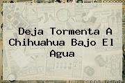 Deja Tormenta A <b>Chihuahua</b> Bajo El Agua