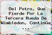 Del Potro, Que Pierde Por La Tercera Rueda De <b>Wimbledon</b>, Continúa ...