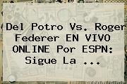 Del Potro Vs. Roger Federer EN <b>VIVO</b> ONLINE Por <b>ESPN</b>: Sigue La ...
