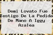 Demi Lovato Fue Testigo De La Pedida De Mano A <b>Iggy Azalea</b>